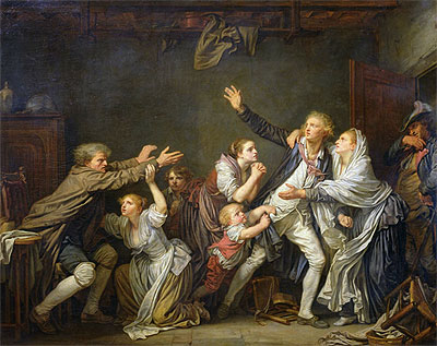 Jean-Baptiste Greuze | The Paternal Curse or The Ungrateful Son, 1777 | Giclée Canvas Print