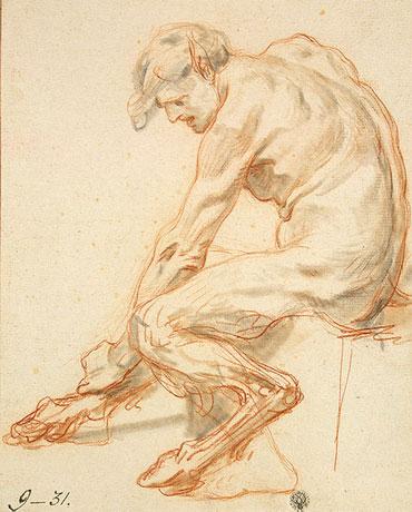 Study of a Faun, b.1755 | Jean-Baptiste Greuze | Painting Reproduction