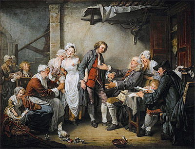 The Village Agreement, 1761 | Jean-Baptiste Greuze | Painting Reproduction