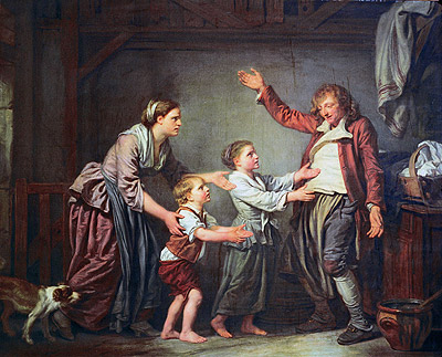The Drunken Cobbler, c.1780/85 | Jean-Baptiste Greuze | Painting Reproduction