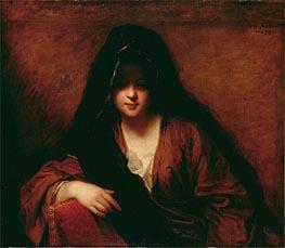 Jean-Baptiste Santerre | Young Woman Wearing a Shawl, 1699 | Giclée Canvas Print
