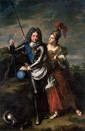 Jean-Baptiste Santerre | Philippe II d'Orleans the Regent of France and Madame de Parabere as Minerva, c.1716 | Giclée Canvas Print