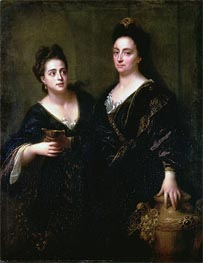 Jean-Baptiste Santerre | Two Actresses, 1699 | Giclée Canvas Print