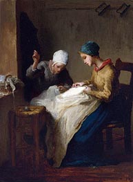 Millet | The Young Seamstresses | Giclée Canvas Print