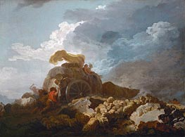 Thunderstorm (Cart Stuck in the Mud), c.1759 by Fragonard | Giclée Canvas Print