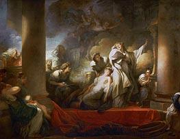 Fragonard | The Grand Priest Coresus Sacrifices Himself to Save Callirhoe, 1769 | Giclée Canvas Print