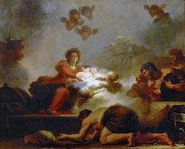 Fragonard | The Adoration of the Shepherds, undated | Giclée Canvas Print