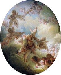Fragonard | The Swarm of Cupids, c.1767 | Giclée Canvas Print