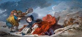 Fragonard | Winter, c.1755 | Giclée Canvas Print