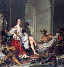 Jean-Marc Nattier | Mademoiselle de Clermont 'en Sultane' | Giclée Canvas Print