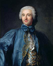 Jean-Marc Nattier | Portrait of a Gentleman in a Blue Coat, undated | Giclée Canvas Print