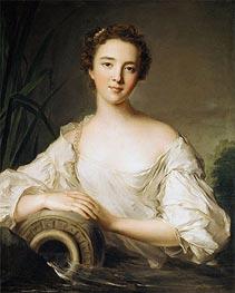 Jean-Marc Nattier | Louise Henriette de Bourbon-Conti, Later Duchesse d'Orléans, 1738 | Giclée Canvas Print