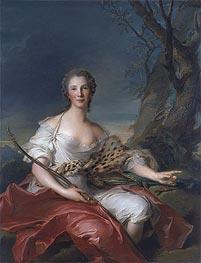 Jean-Marc Nattier | Portrait of Madame Bouret as Diana, 1745 | Giclée Canvas Print