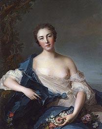 Jean-Marc Nattier | Portrait of a Woman as Flora, 1741 | Giclée Canvas Print