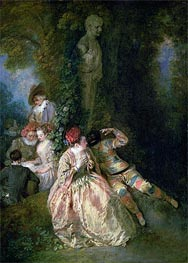 Watteau | Harlequin and Columbine | Giclée Canvas Print