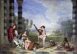 Watteau | The Music Party (Les charmes de la vie) | Giclée Canvas Print