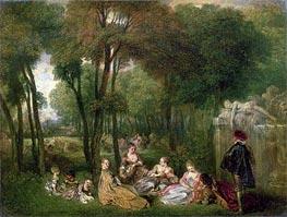 Watteau | Les Champs Elisees | Giclée Canvas Print