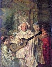 Watteau | Gilles and his Family (Sous un habit de Mezetin) | Giclée Canvas Print