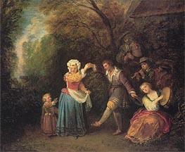 Watteau | Pastoral Dance | Giclée Canvas Print