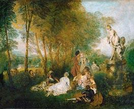 Watteau | The Festival of Love (The Pleasures of Love) | Giclée Canvas Print