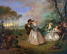 Watteau | Quadrille (La Contredanse) | Giclée Canvas Print
