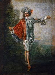 Watteau | L'Indifferent, c.1717 | Giclée Canvas Print