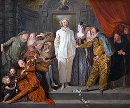 Watteau | Italian Comedians, c.1720 | Giclée Canvas Print