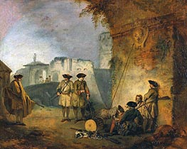 Watteau | The Portal of Valenciennes, c.1709/10 | Giclée Canvas Print