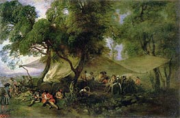 Watteau | Respite from War, c.172/15 | Giclée Canvas Print