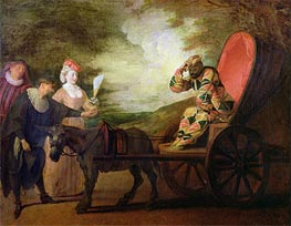 Watteau | The Harlequin, Emperor of the Moon, c.1712 | Giclée Canvas Print