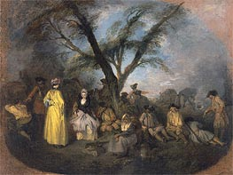 Watteau | The Rest, c.1709 | Giclée Canvas Print