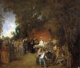 Watteau | Capitulations of Wedding and Rural Dance, c.1711 | Giclée Canvas Print