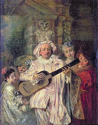 Gilles and his Family (Sous un habit de Mezetin), c.1716 | Watteau | Painting Reproduction