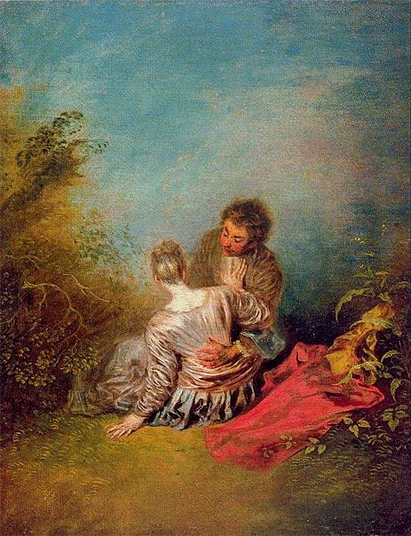 Le faux-pas (The Misste), c.1716/18 | Watteau | Painting Reproduction