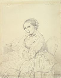 Ingres | Portrait of Mme Delphine Ingres, 1855 | Giclée Paper Print