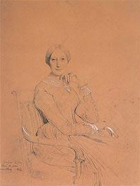 Ingres | Portrait of Madame Victor Mottez (Julie-Colette Odevaere), 1844 | Giclée Paper Print
