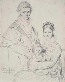 Ingres | The Alexandre Lethiere Family, 1815 | Giclée Paper Print