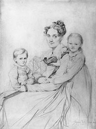 Ingres | Frau Reinhold and Her Daughters, 1815 | Giclée Paper Print