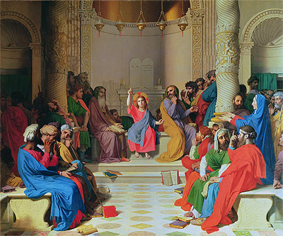 Jesus Among the Doctors, 1862 | Ingres | Painting Reproduction