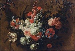 Jean Baptiste Bosschaert | A Garland with Flowers, undated | Giclée Canvas Print