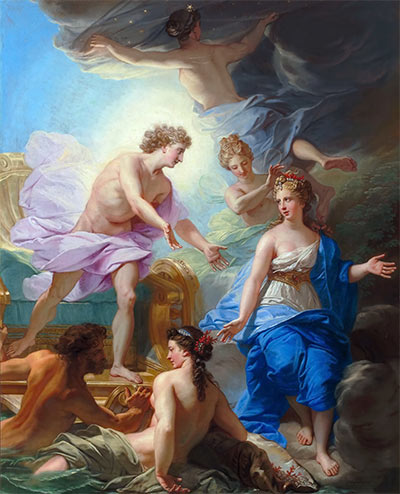 Apollo on his Chariot is Presented to Thetys, c.1700 | Jean-Baptiste Jouvenet | Painting Reproduction