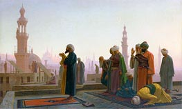 Gerome | Prayer in Cairo (Prayer on the Rooftops of Cairo) | Giclée Canvas Print