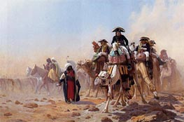 Gerome | Napoleon and His General Military Staff in Egypt, 1867 | Giclée Canvas Print
