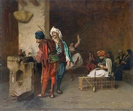 Gerome | Cafe House, Cairo (Casting Bullets), c.1870 | Giclée Canvas Print