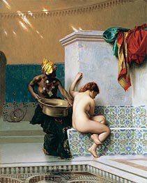 Gerome | Moorish Bath, Two Women (Turkish Bath), 1870 | Giclée Canvas Print