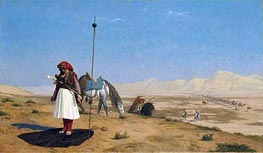 Gerome | Prayer in the Desert, 1864 | Giclée Canvas Print