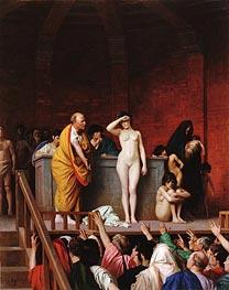 Gerome   Slave Market in Ancient Rome, c.1884   Giclée Canvas Print