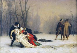 Gerome   At the End of the Masked Ball, 1867   Giclée Canvas Print