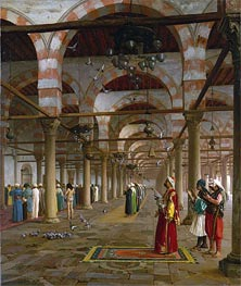 Gerome   Prayer in the Mosque, 1871   Giclée Canvas Print