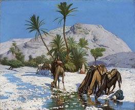 Gerome   Oasis, 1857   Giclée Canvas Print